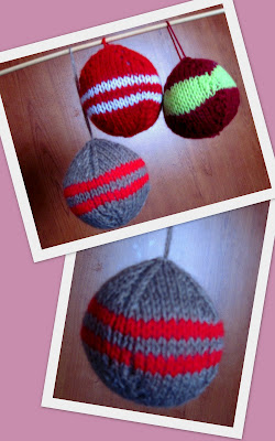 palle di natale a maglia, come fare le palle di natale fai da te