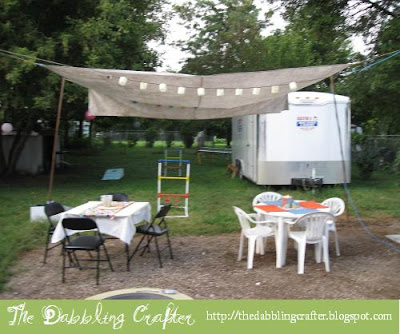 & The Dabbling Crafter: DIY: Outdoor Canopy