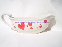 Salsera de porcelana