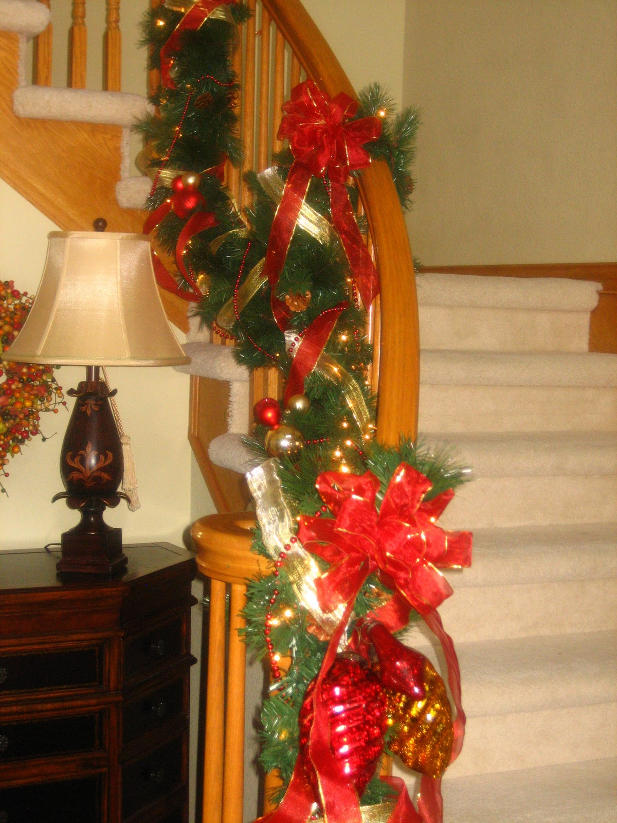 My own brand of crazy christmas decorating the adhd way for How to decorate a banister