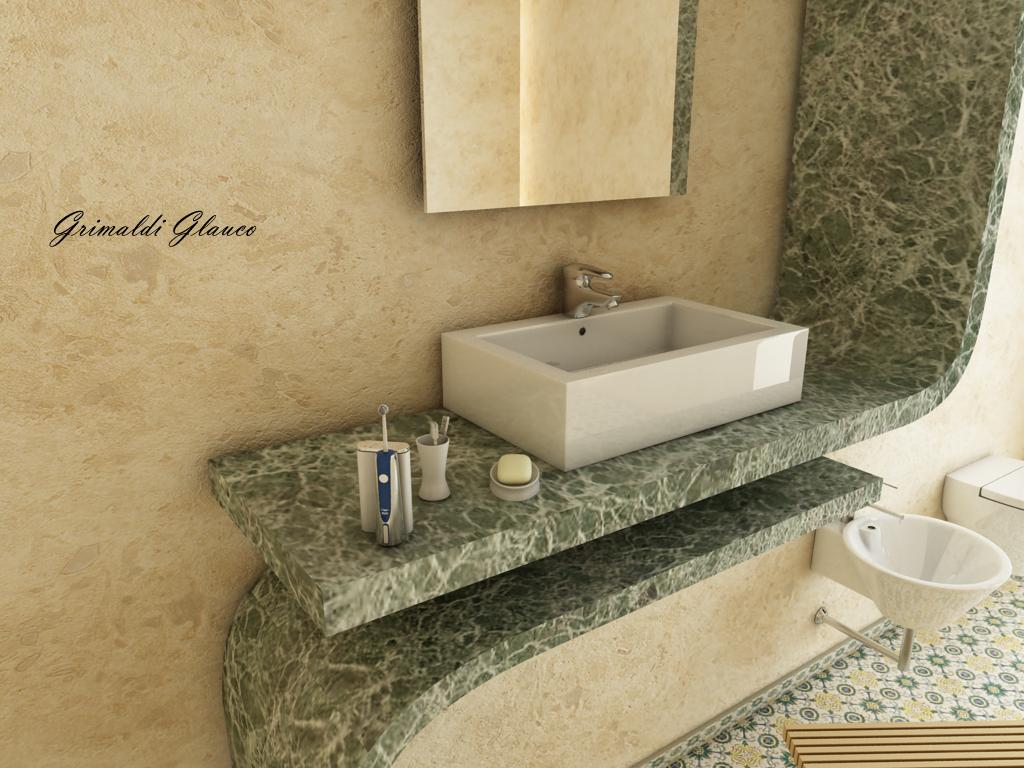 Glauco Design: Scena bagno moderno 2