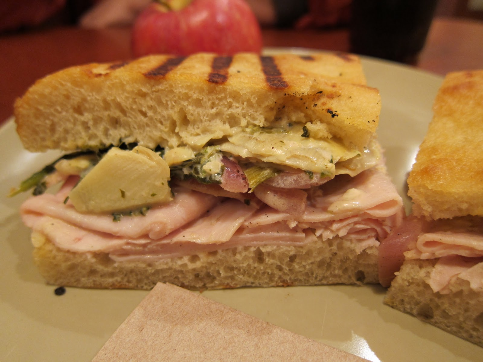 Panera Bread Turkey Artichoke Hot Panini Review