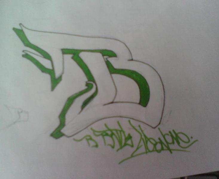 B Graffiti Alphabet Sketches
