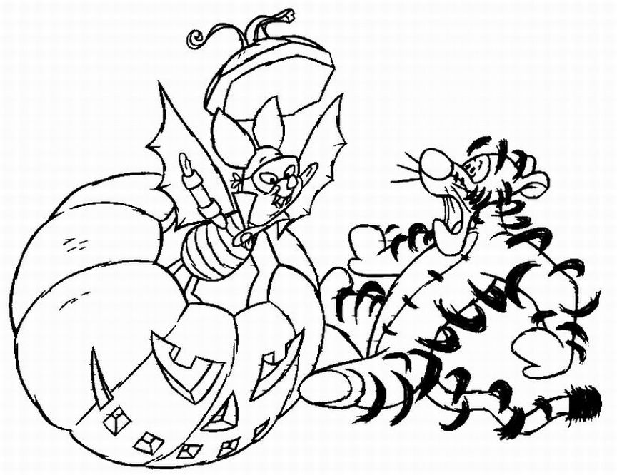 disney coloring pages halloween - photo#32