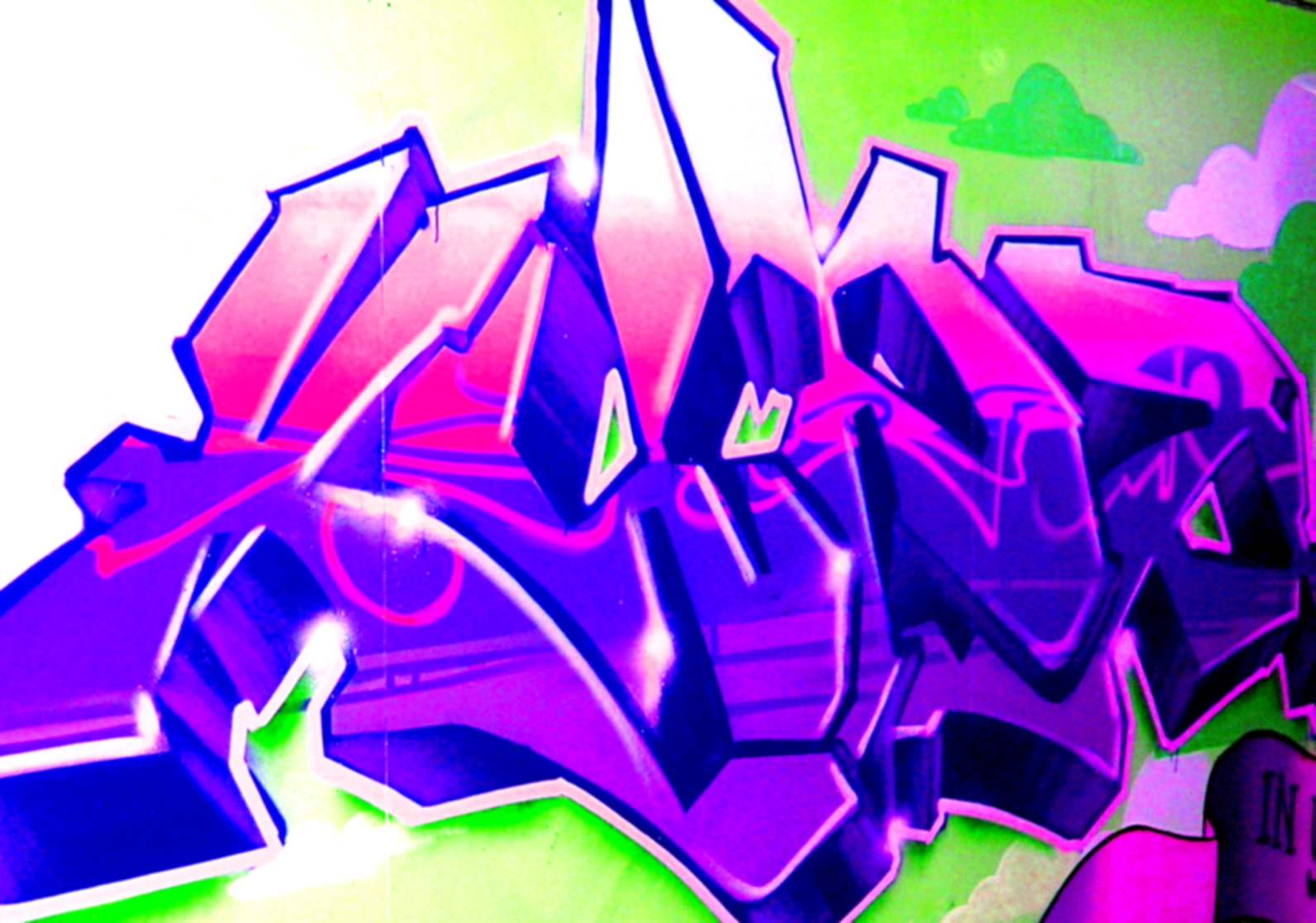 Amazing Graffiti Art Background Design
