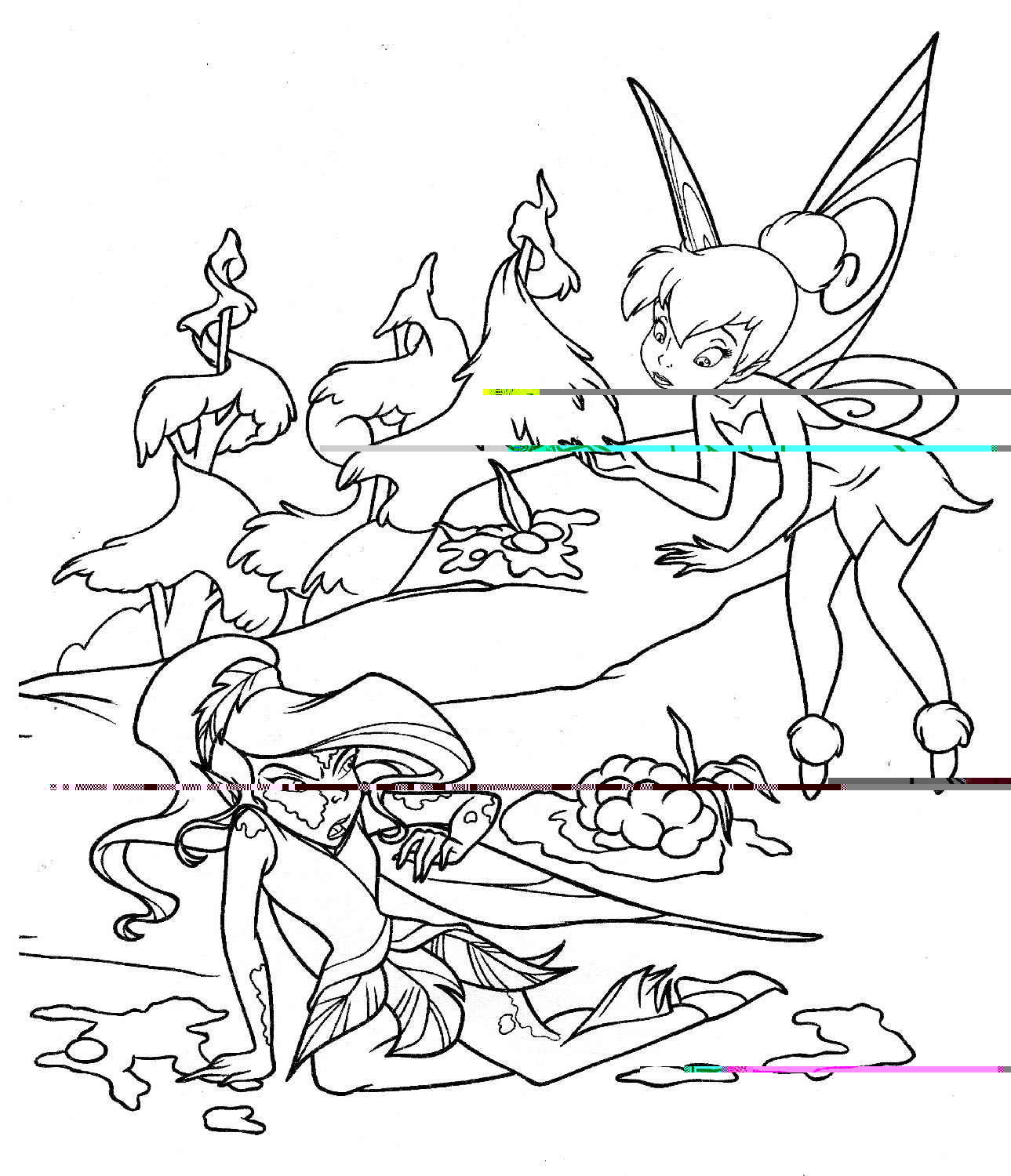 Tinkerbell And Friends Coloring Pages Disney Cartoon