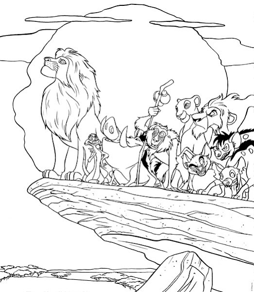Lion King Pride Coloring Pages