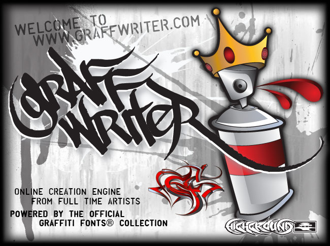 graffiti letters fonts. Graffiti Fonts : Write and Get