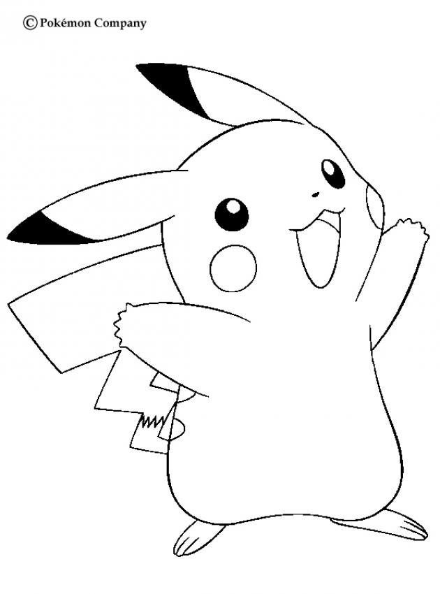 cute pokemon pikachu coloring pages - photo#14