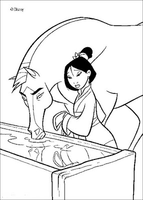 Disney Mulan Coloring Pages