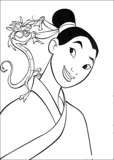 Coloring Pages Kids Disney Princess Mushu Mulan Disney Mulan Coloring Pages