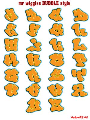 Produced c1500, the book is filled with designs for different styles of. New Style Graffiti: Free Printable Mr Wiggles Graffiti Alphabet