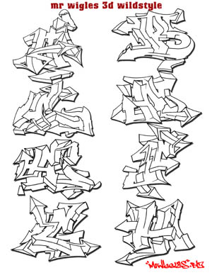 New Graffiti Alphabet Ideas: