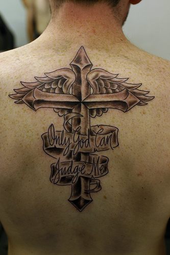 Cool Cross tattoos with Wings for Man