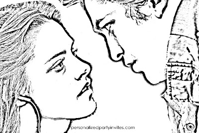 twilight coloring pages - Twilight Coloring Pages