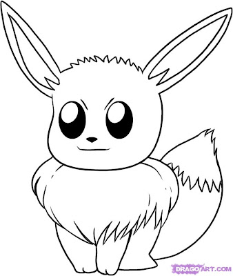 pokemon eeve coloring pages - Pokemon Go Coloring Pages