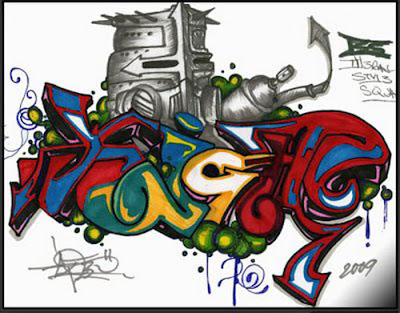 graffiti letters 3d. Amazing Full Color Graffiti Letters 3D
