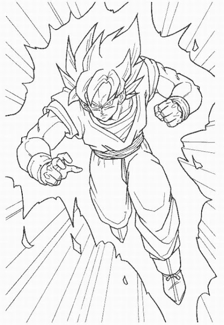 dragon ball z goku coloring pages - Dragon Ball Goku Coloring Pages