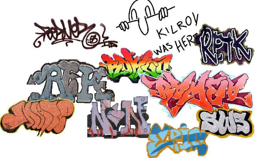3D Sketch graffiti alphabet