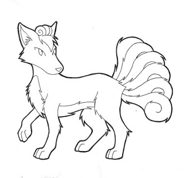 Pokemon Vulpix Coloring Sheet