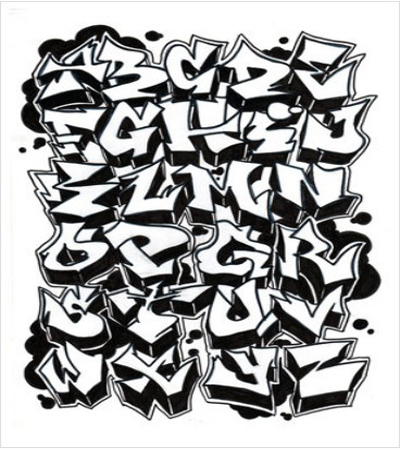 Great Graffiti Alphabet Style A   Z