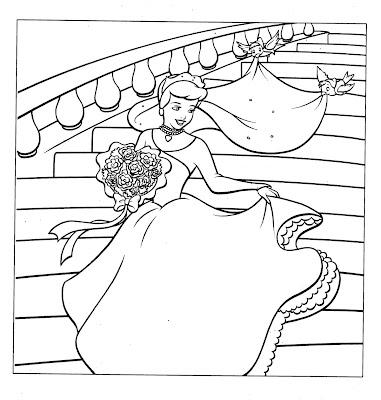 Disney Princess Cinderella Coloring Pages