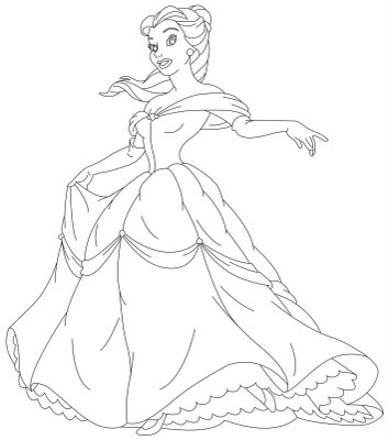 Princess Coloring Sheets On Belle And Her Gown Sheet Cartoon Pages