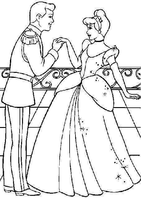 prince and princess coloring pages - photo#1