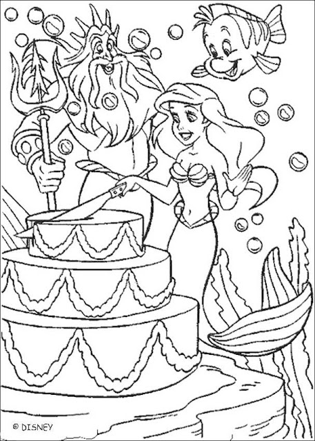 coloring pages disney ariel. disney princess happy birthday