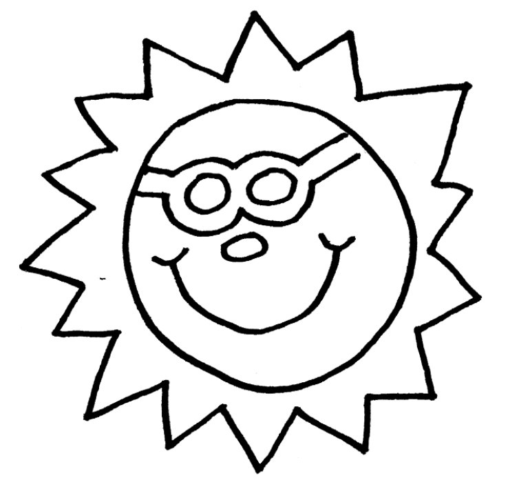 Sun coloring pictures / sheets | Super Coloring |