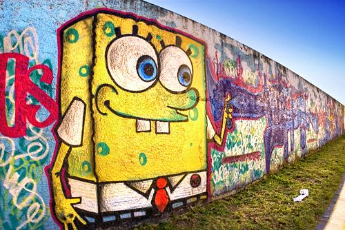 Best Graffiti World: Spongebob Squarepant On Graffiti Wall Design