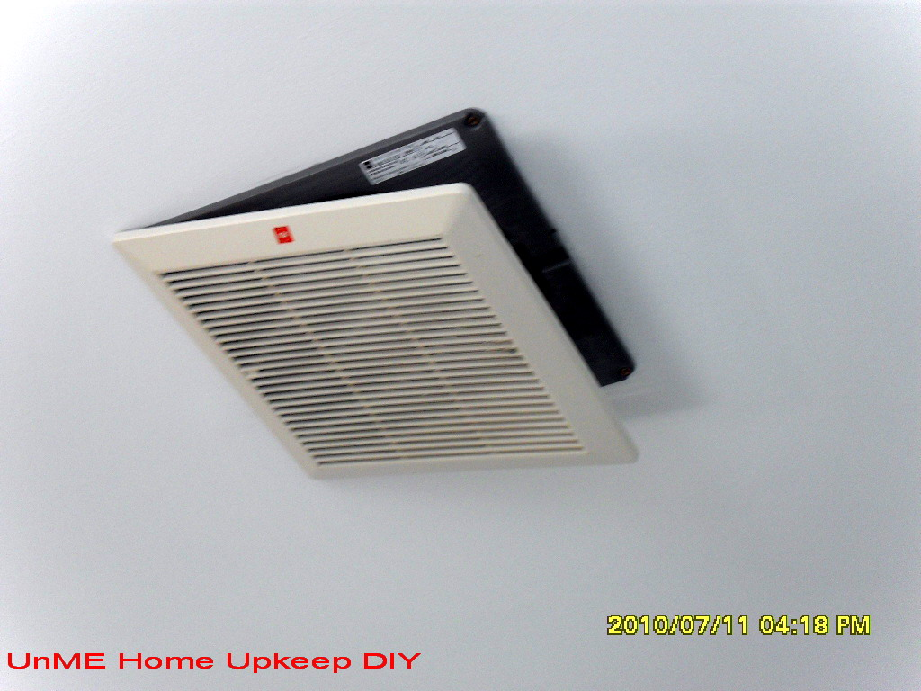UnME HOME-UPKEEP DIY: Modify and Repair Ceiling Exhaust Fan.