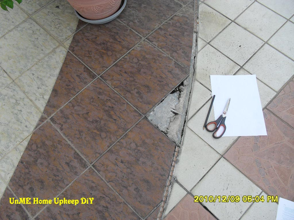 Unme Home Upkeep Diy Replacing A Piece Of Dislodged Ceramic Floor Tile