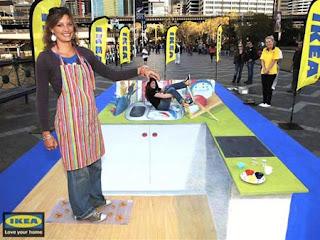 Cuisine Ikea en art 3D à Sydney