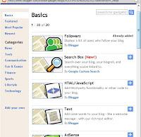 Cara pasang widget blog di blogspot