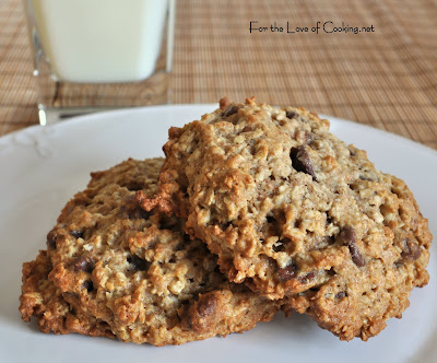 Banana, Oatmeal, Chocolate Chip, Pecan Cookies