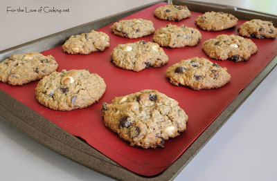Oatmeal, Dark Chocolate and White Chocolate Chip Cookies