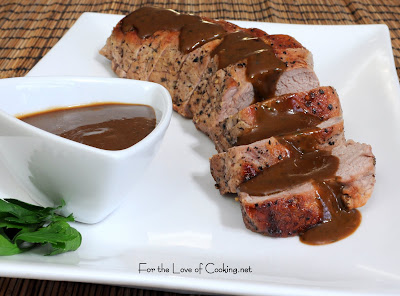 Pork Tenderloin with Roasted Garlic Vinaigrette