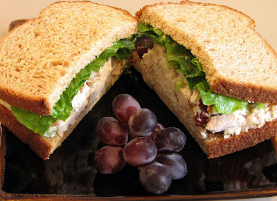 Chicken, Grape and Walnut Salad Sandwich