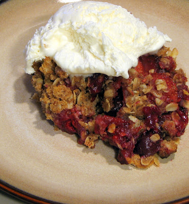 Mixed Berry Crisp with Homemade Whipped Cream