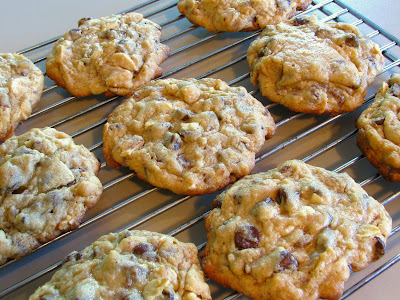 Chocolate Chip, Toffee and Almond Cookies | For the Love of Cooking