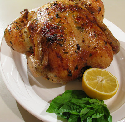 Lemon, Garlic and Basil Slow Roasted Chicken | For the Love of Cooking