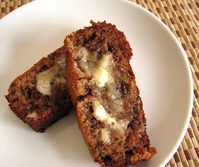Banana Bread with Chocolate Chips and Toasted Walnuts