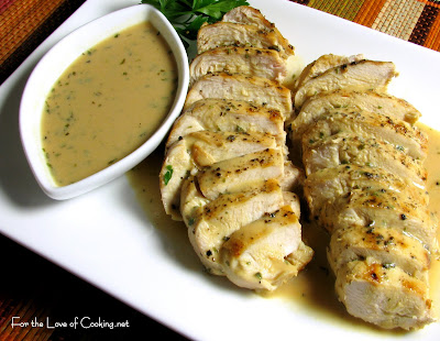 Grilled Chicken with Mustard-Tarragon Sauce | For the Love of Cooking