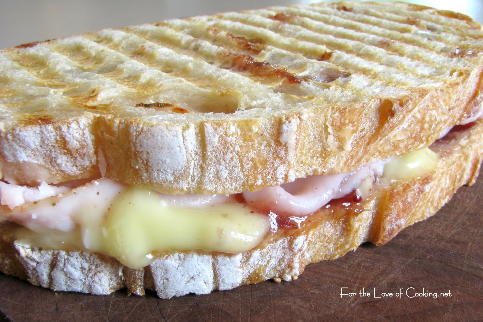 Turkey, Brie and Cranberry Chutney Panini | For the Love ...