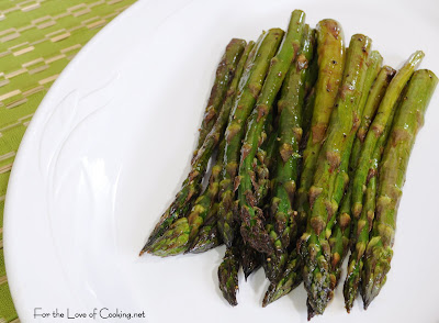 Roasted Asparagus with Browned Butter, Soy and Balsamic Sauce