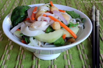 Chicken Rice Noodle Salad with Peanuts and Spicy Lime Vinaigrette