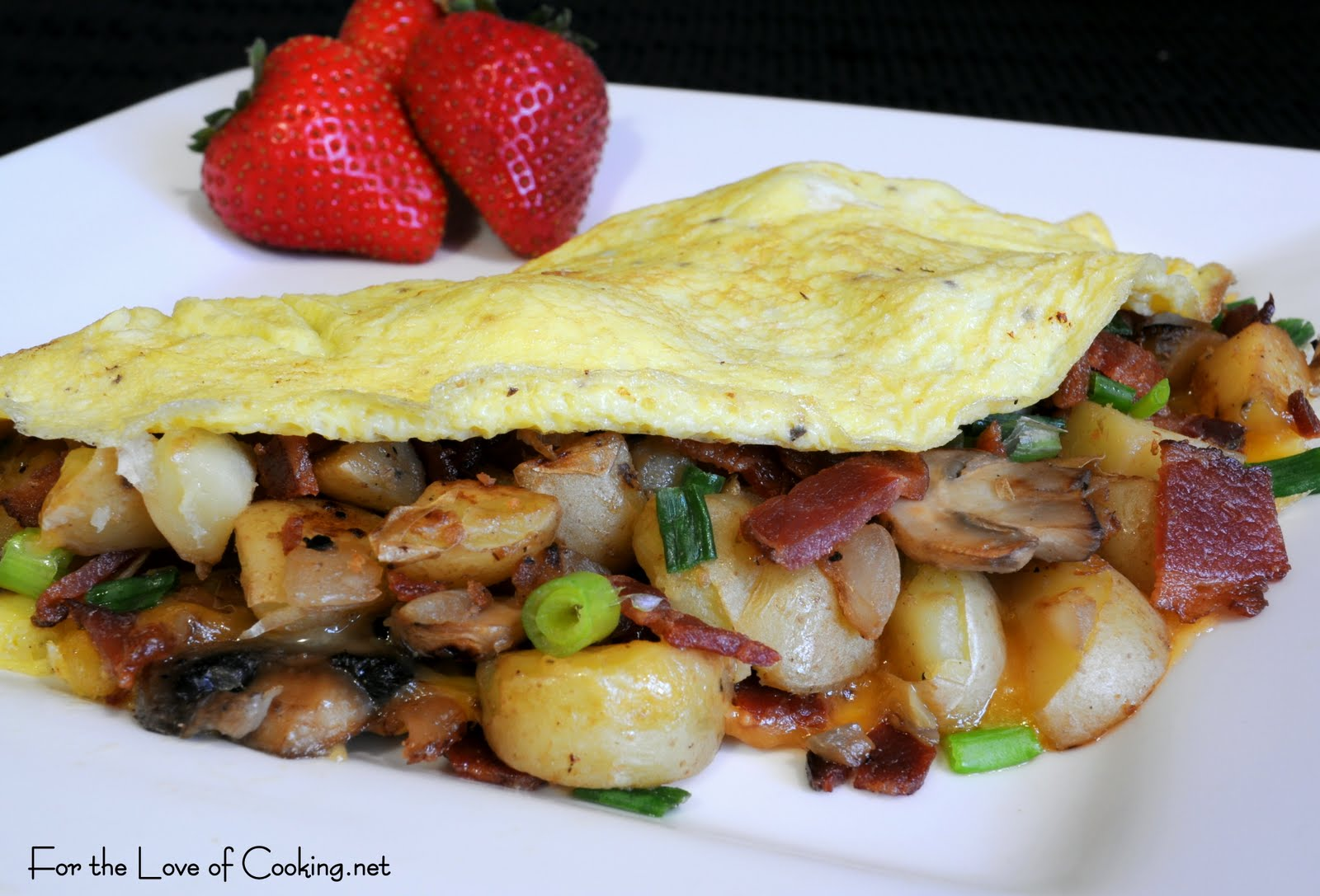 bacon and pecans caramelized pear and gorgonzola omelette with bacon ...