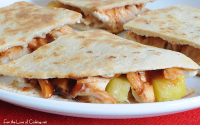 Roasted Chicken and Pineapple Quesadilla