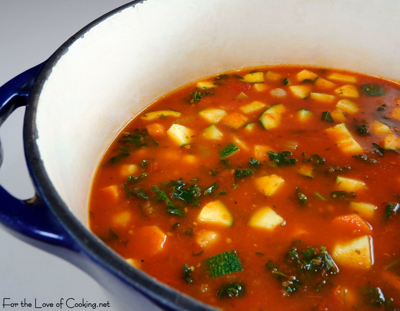Roasted Tomato and Vegetable Soup | For the Love of Cooking
